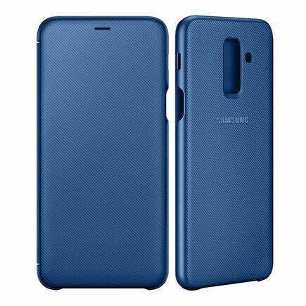 Samsung Wallet Cover pouzdro bookcase s kapsičkou na kartu Samsung Galaxy A6+ 2018 modré (EF-WA605CLEGWW)