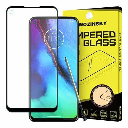 Super odolné tvrzené sklo Full Glue na celý displej s rámem Case Friendly Motorola Moto G Pro černé