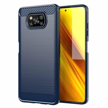 Carbon Case elastické pouzdro Xiaomi Poco X3 NFC / Poco X3 Pro modré