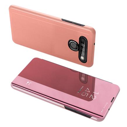 Clear View Case pouzdro s klapkou LG K61 růžové