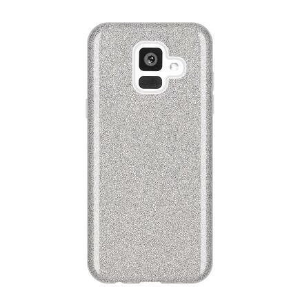 Glitter Case lesklé pouzdro s brokátem Samsung Galaxy A6 2018 A600 stříbrné