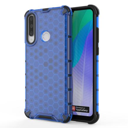 Honeycomb pancéřové pouzdro s gelovým rámem Huawei Y6p modré