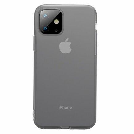 Jelly matné průsvitné gelové pouzdro iPhone 11 černé (WIAPIPH61S-GD01)