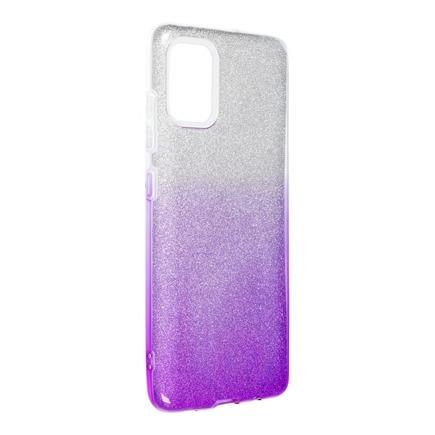 Pouzdro Shining Samsung Galaxy A51 průsvitné/fialové