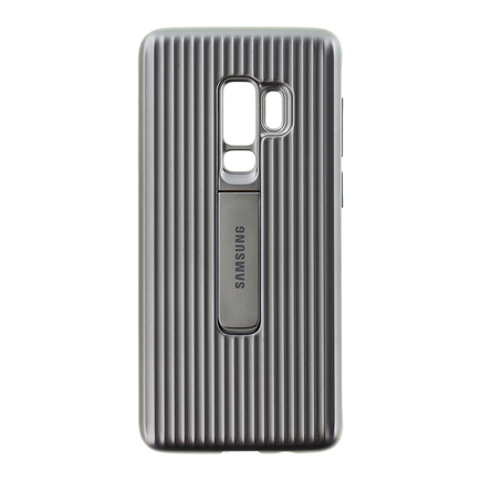 Protective Standing Cover zesílené pouzdro Samsung Galaxy S9 Plus G965 stříbrné (EF-RG965CSEGWW)