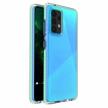 Spring Case gelové pouzdro s barevným rámem Samsung Galaxy A52 5G / A52 4G mátově zelené