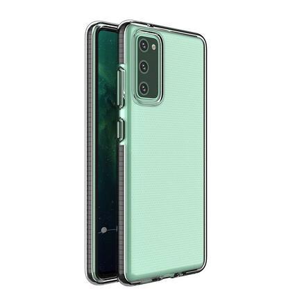 Spring Case gelové pouzdro s barevným rámem Samsung Galaxy S21+ 5G (S21 Plus 5G) černé