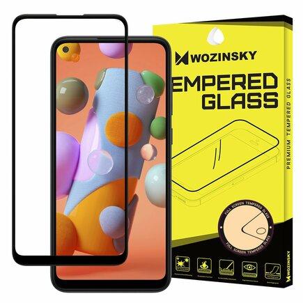 Wozinsky super odolné tvrzené sklo Full Glue na celý displej s rámem Case Friendly Samsung Galaxy A11 / M11 černé