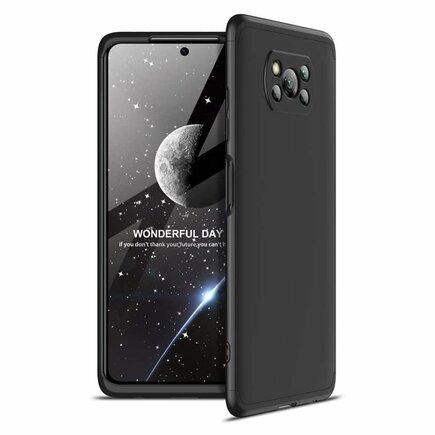360 Protection Case pouzdro na přední i zadní část telefonu Xiaomi Poco X3 NFC černé