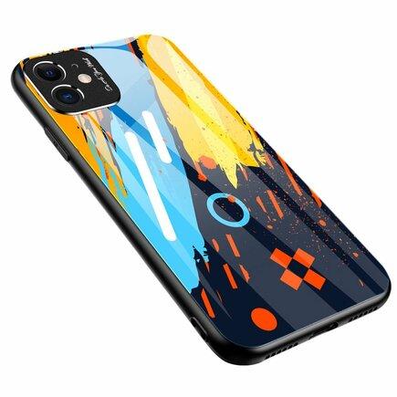 Color Glass Case pouzdro z tvrzeného skla s clonou na kameru Huawei P30 Lite vzorek 1