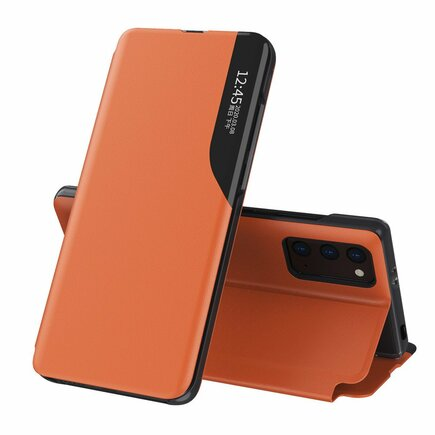 Eco Leather View Case elegantní pouzdro s klapkou a funkcí podstavce Xiaomi Poco M3 / Xiaomi Redmi 9T oranžové