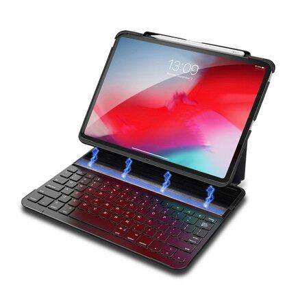 Magnetické pouzdro na tablet bezdrátová klávesnice Bluetooth iPad Pro 11'' 2018 černé