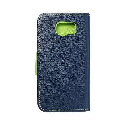 Pouzdro Fancy Book Samsung Galaxy S6 tmavě modré/limetkové