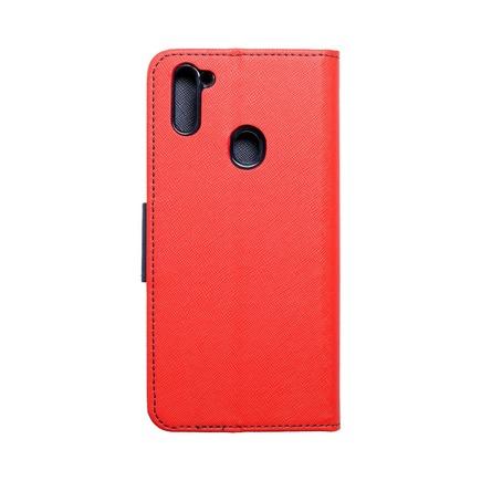 Pouzdro Fancy Book Samsung M11 červené/tmavě modré