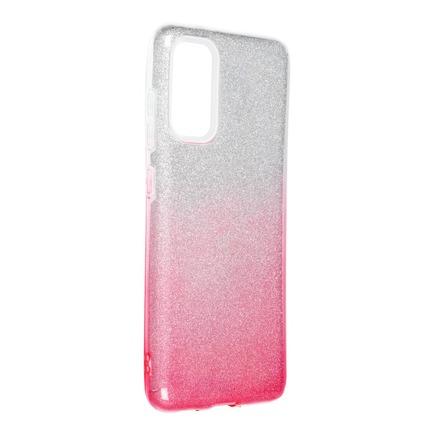 Pouzdro Shining Samsung Galaxy S20 / S11e průsvitné/růžové