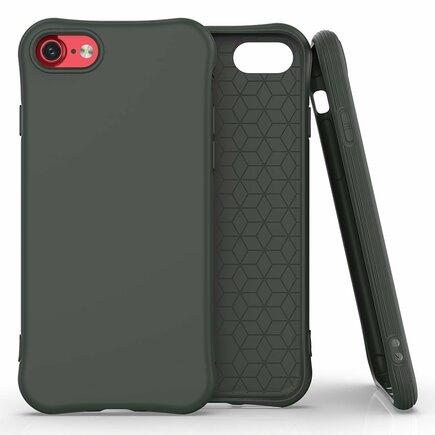 Soft Color Case elastické gelové pouzdro iPhone SE 2020 / iPhone 8 / iPhone 7 tmavě zelené