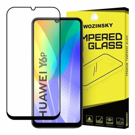 Super odolné tvrzené sklo Full Glue na celý displej s rámem Case Friendly Huawei Y6p / Honor 9A černé