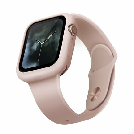UNIQ etui Lino Apple Watch Series 5/4 40MM różowy/blush pink
