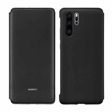 Wallet Cover pouzdro bookcase s přihrádkou pro kartu Huawei P30 Pro černé (51992866)