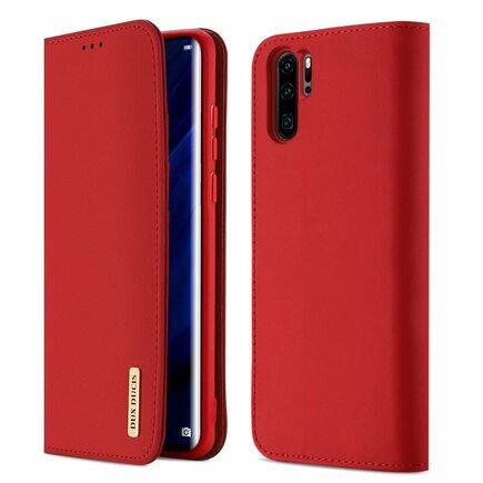 Wish pouzdro z přírodní kůže Huawei P30 Pro červené