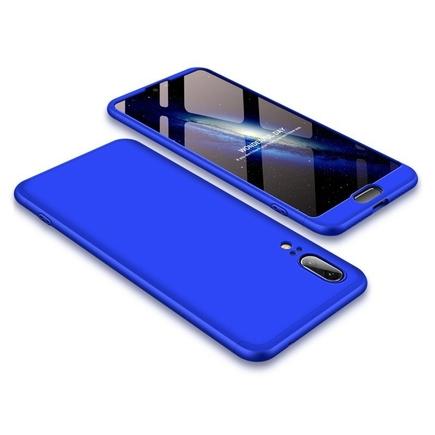 360 Protection pouzdro na přední i zadní část telefonu Huawei P20 modré