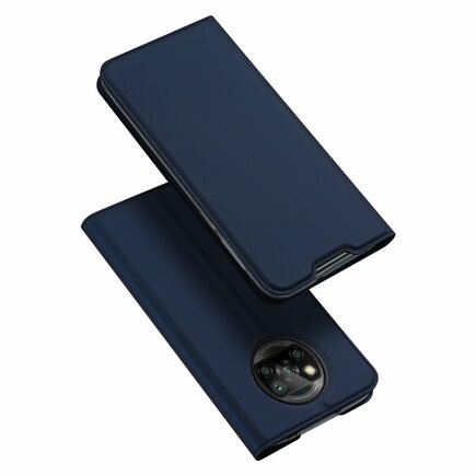 DUX DUCIS Skin Pro pouzdro s flipovým krytem Xiaomi Poco X3 NFC modré