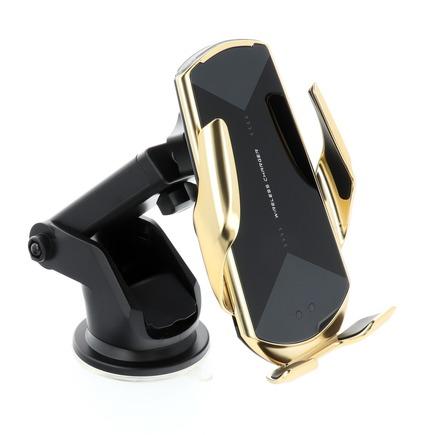 Držák s indukčním automatickým nabíjením HS3 Qi 15W zlatý
