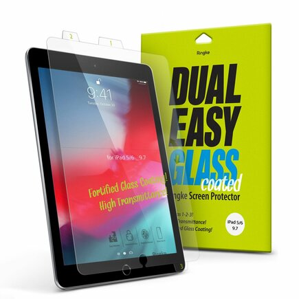 Dual Easy Glass Coated tvrzené sklo flexi 9H iPad 9.7'' 2018 / iPad 9.7'' 2017 / iPad Air 2 / iPad Air (DCAP0004)