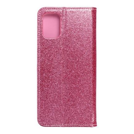 Pouzdro Shining Book Samsung A71 růžové