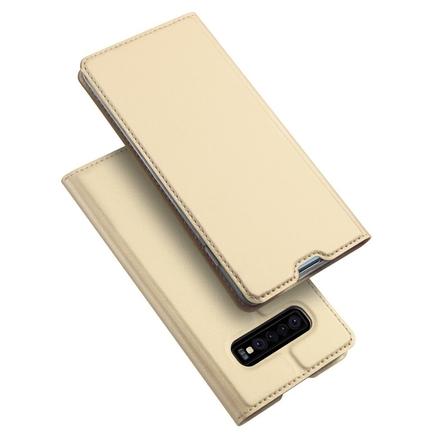 Skin Pro pouzdro s klapkou Samsung Galaxy S10 Plus zlaté