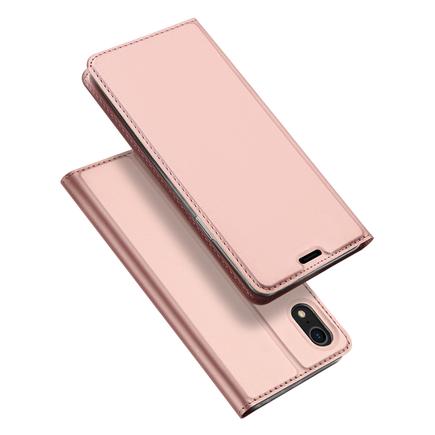 Skin Pro pouzdro s klapkou iPhone XR růžové