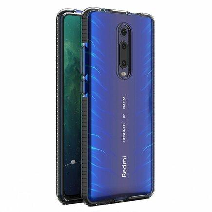 Spring Case gelové pouzdro s barevným rámem Xiaomi Mi 9T / Xiaomi Mi 9T Pro černé