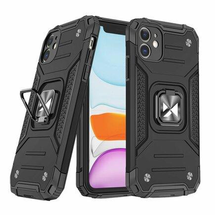 Wozinsky Ring Armor pancéřové hybridní pouzdro + magnetický úchyt iPhone 11 černé