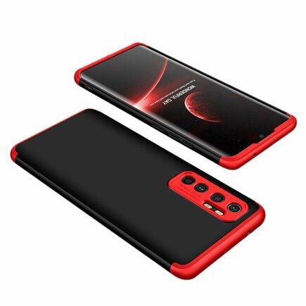 360 Protection Case pouzdro na přední i zadní část telefonu Xiaomi Mi 10 Lite černo/červené