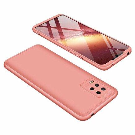 360 Protection Case pouzdro na přední i zadní část telefonu Xiaomi Mi Note 10 Lite růžové