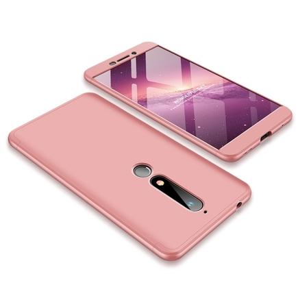 360 Protection pouzdro na přední i zadní část telefonu Nokia 6.1 růžové
