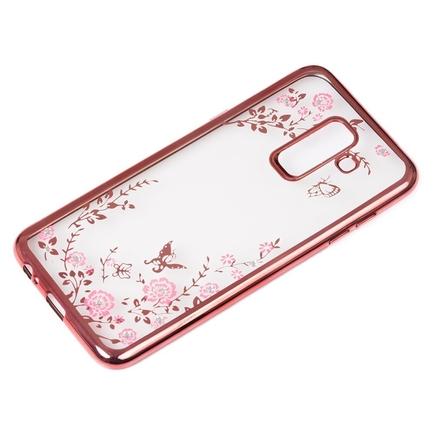 Bloomy Case designové gelové pouzdro Samsung Galaxy A6 Plus 2018 A605 růžové