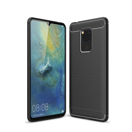 Carbon Case elastické pouzdro Huawei Mate 20 černé