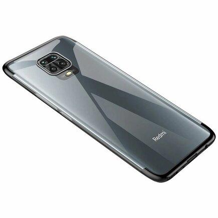 Clear Color case gelové pouzdro s metalickým rámem Xiaomi Redmi 10X 4G / Xiaomi Redmi Note 9 černé