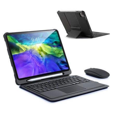 Dux Ducis Touchpad Keyboard Case pouzdro na tablet s bezdrátovou klávesnicí Bluetooth iPad Air 2020 černé