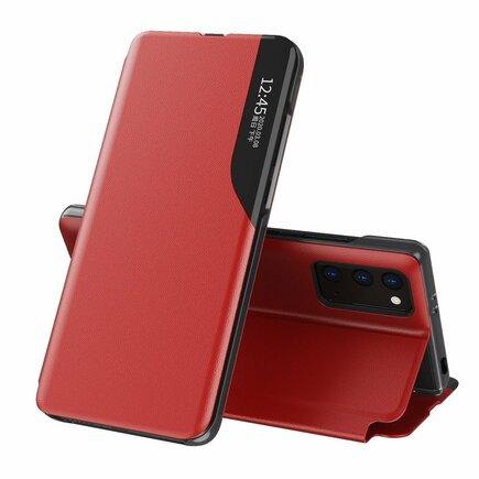 Eco Leather View Case elegantní pouzdro s klapkou a funkcí podstavce Xiaomi Poco M3 / Xiaomi Redmi 9T červené