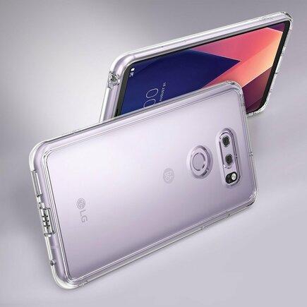 Fusion pouzdro s gelovým rámem LG V30 H930 H933 růžové (FSLG0010-RPKG)