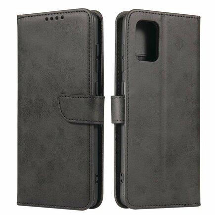 Magnet Case elegantní pouzdro s klapkou a funkcí podstavce Samsung Galaxy A71 černé