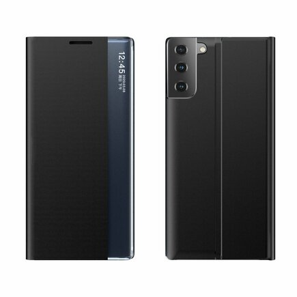 New Sleep Case pouzdro s klapkou s funkcí podstavce Samsung Galaxy S21 5G černé