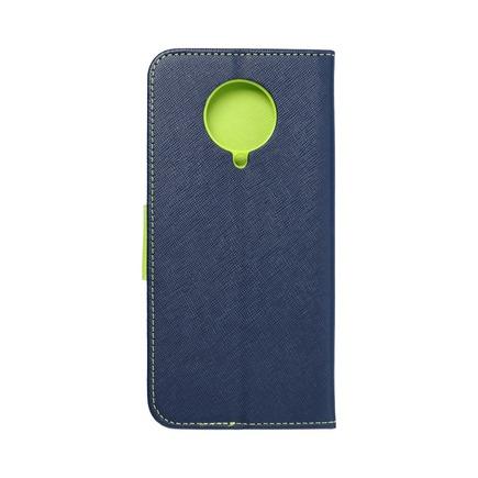 Pouzdro Fancy Book Xiaomi K30 Pro tmavě modré/limetkové