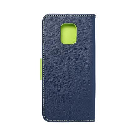 Pouzdro Fancy Book Xiaomi Note 9 Pro Max tmavě modré/limetkové