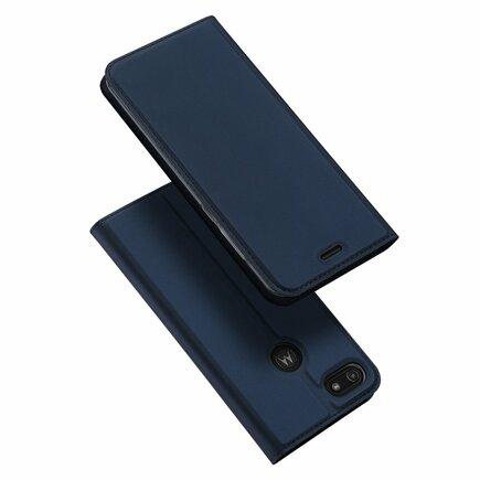 Skin Pro pouzdro s klapkou Motorola Moto E6 Play modré