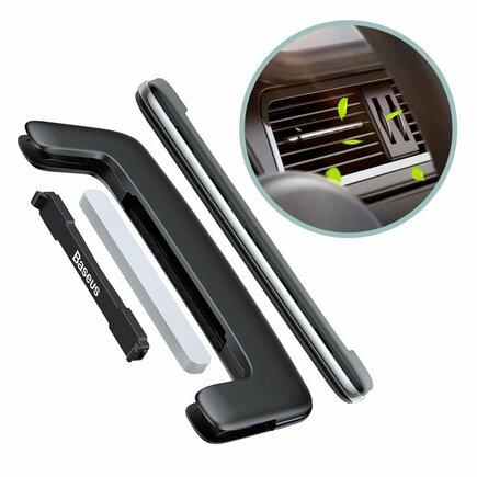Baseus Paddle ultratenký osvěžovač vzduchu do auta na ventilační mřížku stříbrný (SUXUN-BP0S)