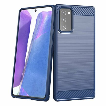 Carbon Case elastické pouzdro Samsung Galaxy Note 20 modré