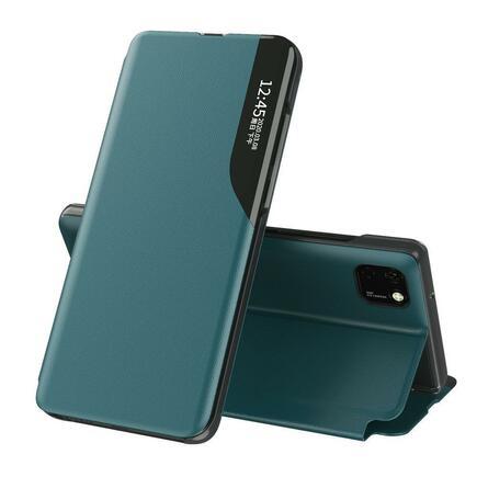 Eco Leather View Case elegantní pouzdro s klapkou a funkcí podstavce Huawei Y6p zelené